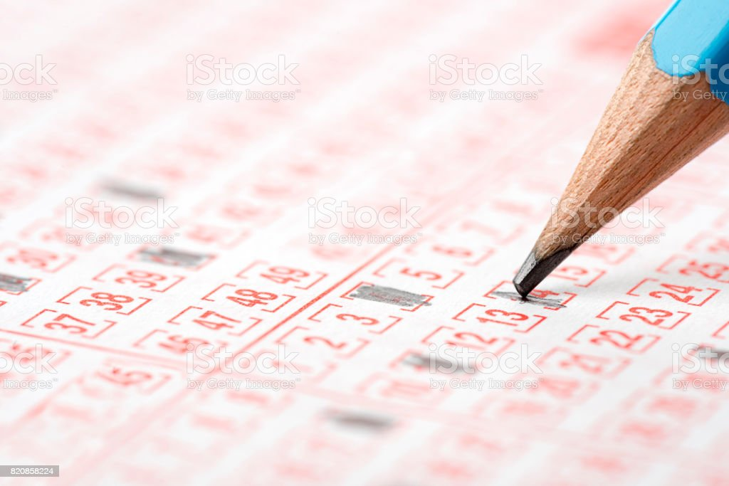 Playing Lottery stock photo