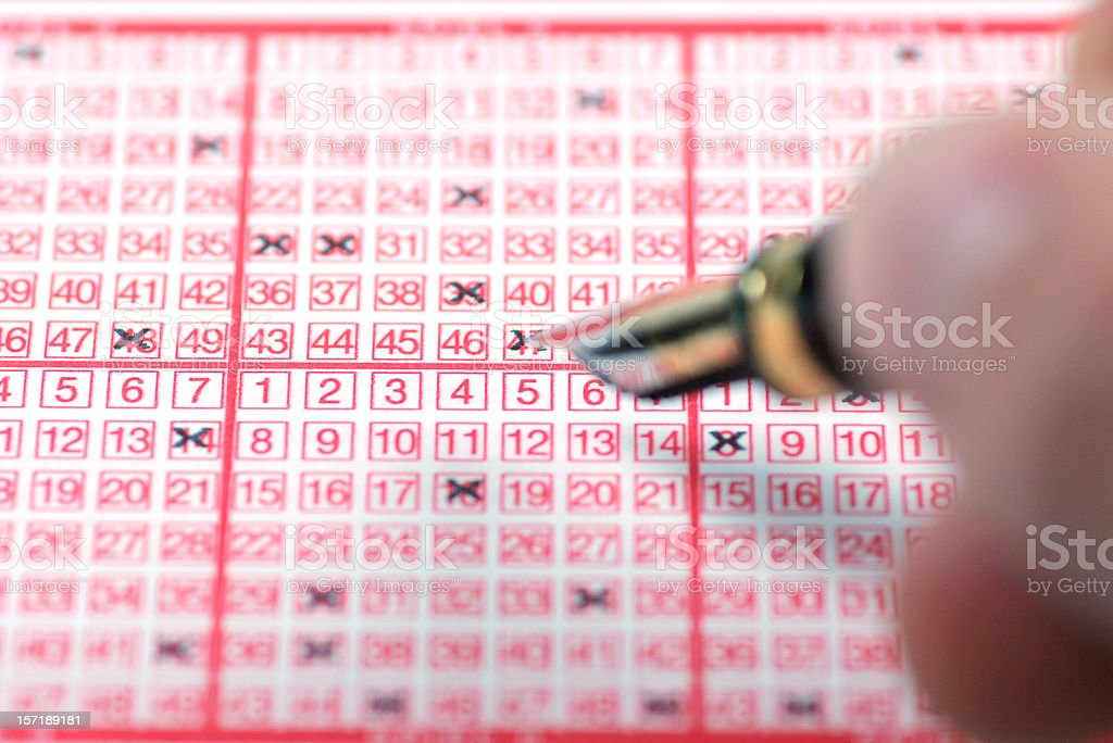 Playing lotto royalty-free stock photo