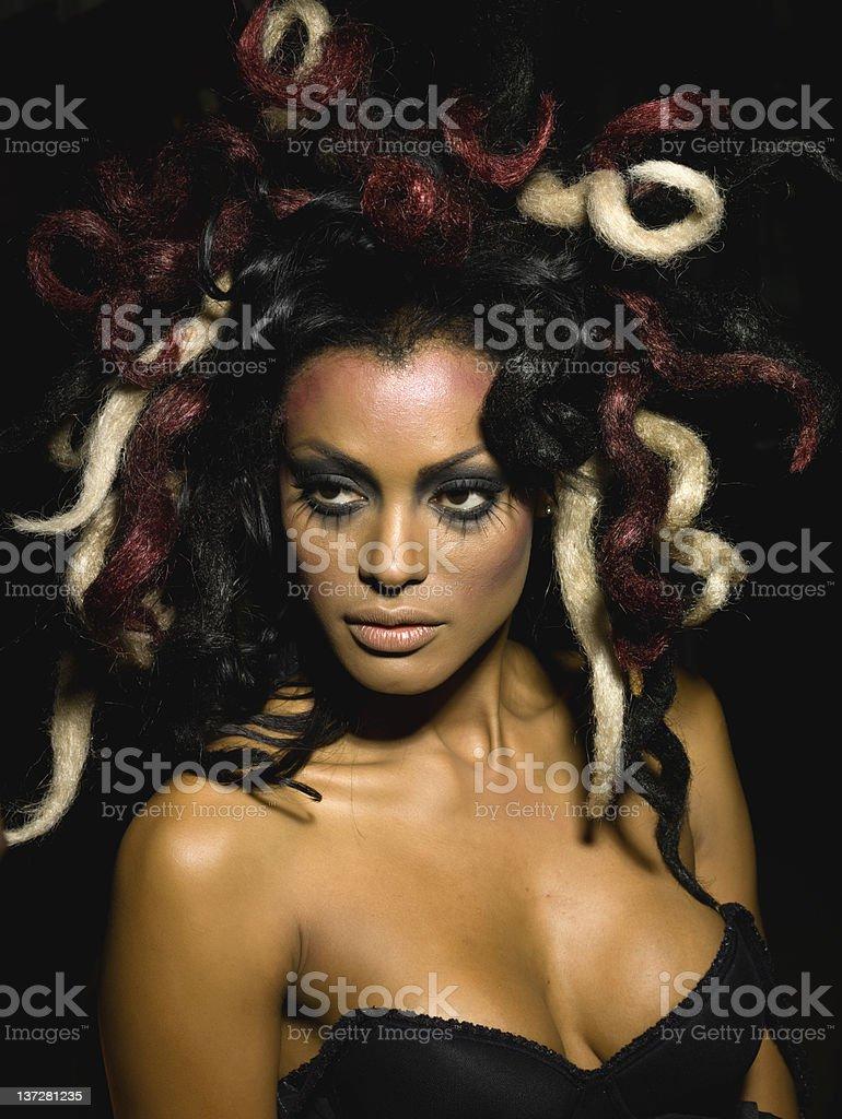Playing Medusa royalty-free stock photo