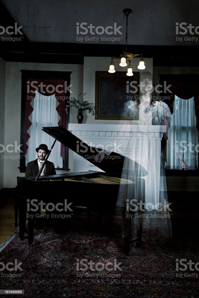 Playing music for ghosts royalty-free stock photo