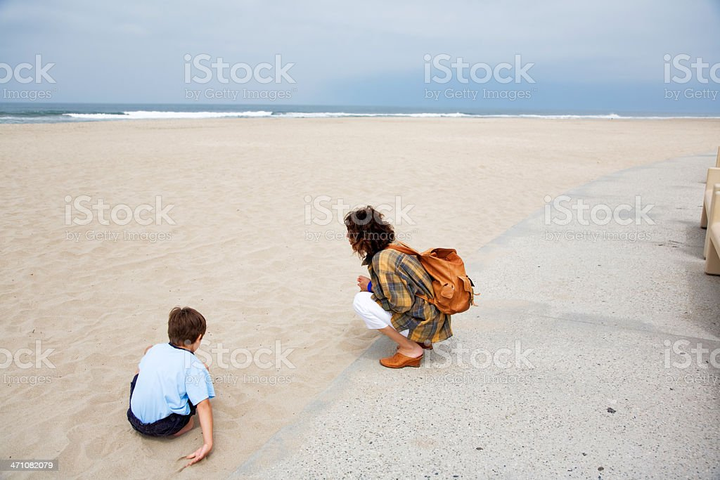 Playing On A Beach royalty-free stock photo