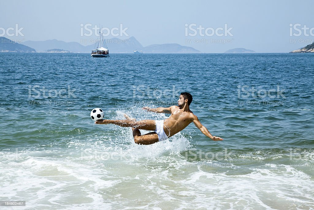 playing on the beach royalty-free stock photo