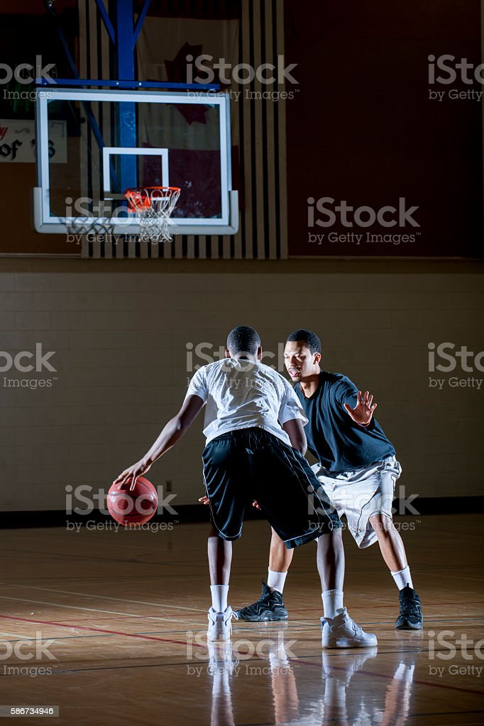 Playing One-on-One stock photo