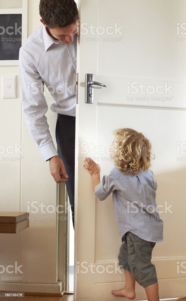 Playing peekaboo royalty-free stock photo
