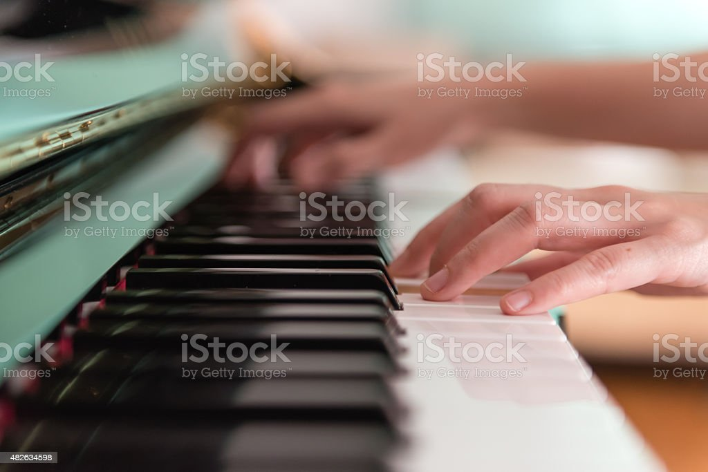 Playing Piano (Soft Focus) stock photo