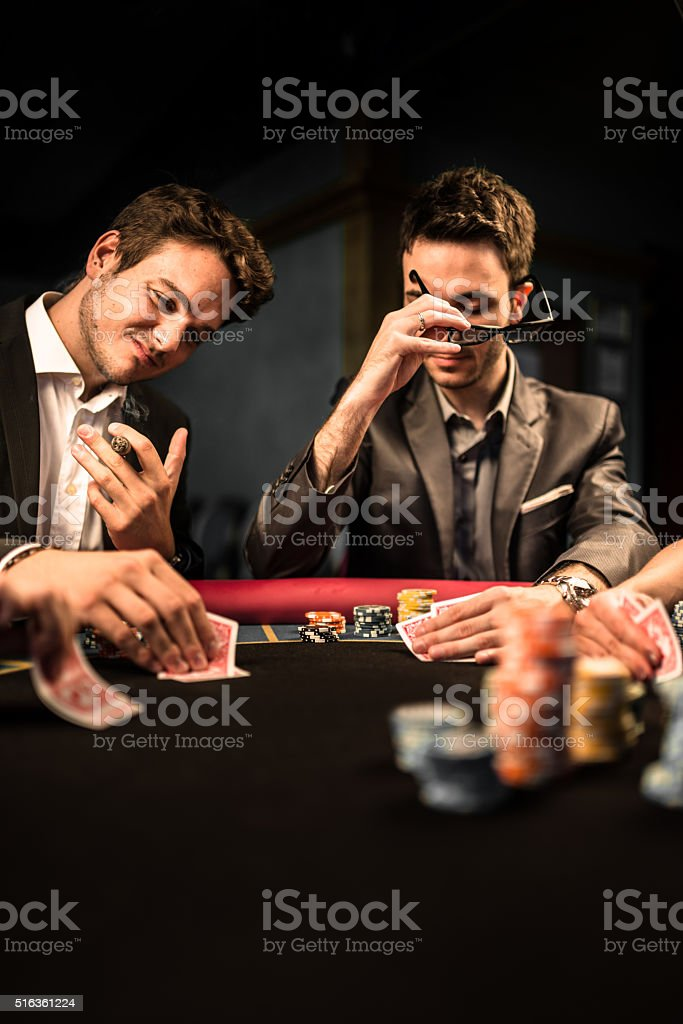 playing poker stock photo