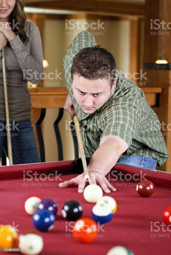 Playing Pool stock photo