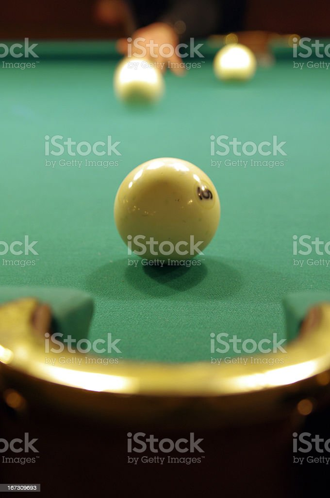 Playing pool royalty-free stock photo