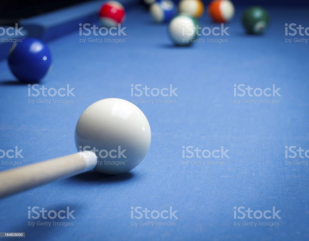 playing pool royalty-free stock photo