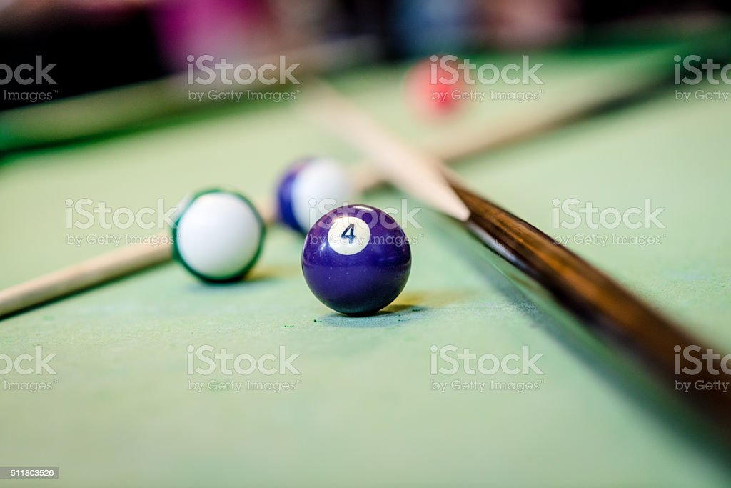 Playing pool stock photo