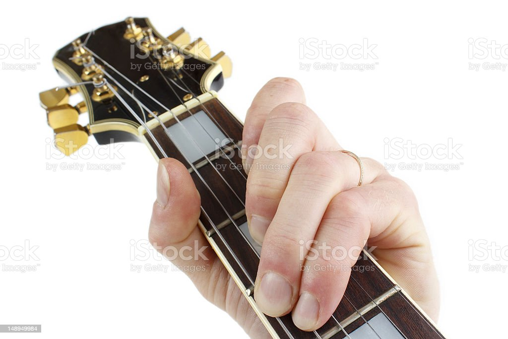 Playing quitar closeup royalty-free stock photo