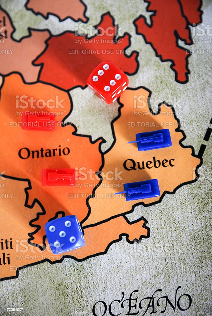 Playing Risk! stock photo
