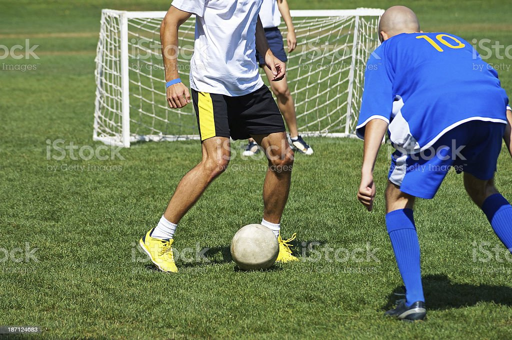 playing soccer royalty-free stock photo