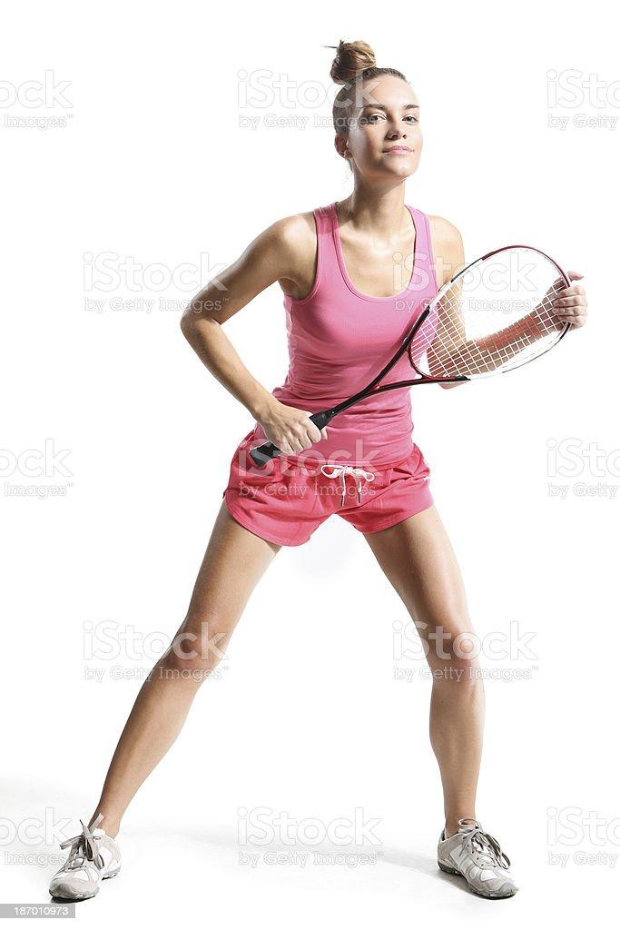 playing squash stock photo