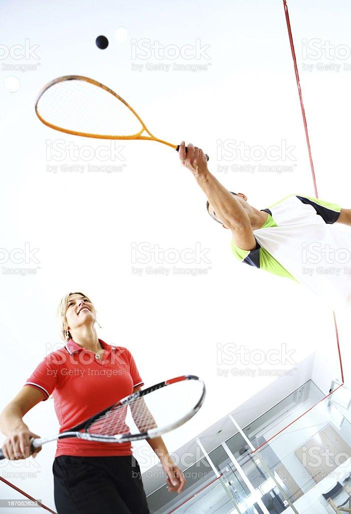 Playing squash. royalty-free stock photo