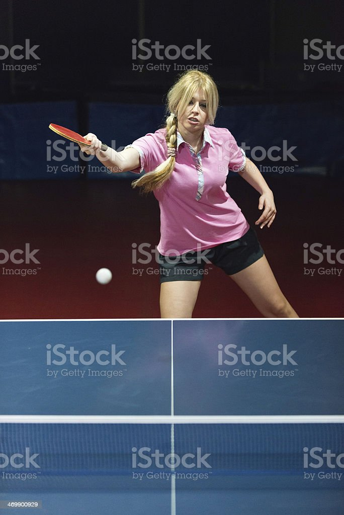 Playing Table Tennis royalty-free stock photo