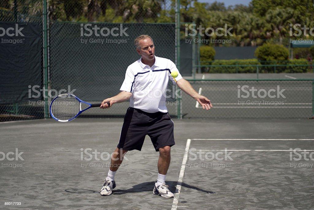 Playing Tennis II royalty-free stock photo