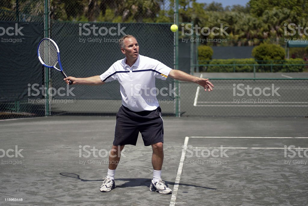 Playing Tennis III royalty-free stock photo