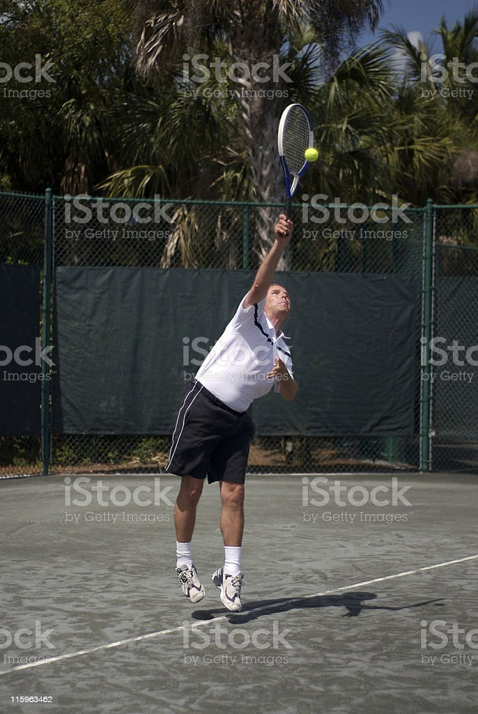 Playing Tennis IV royalty-free stock photo