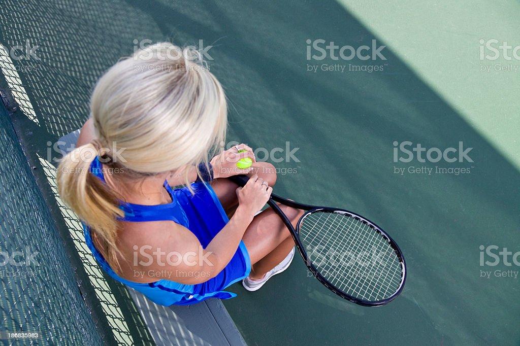 Playing Tennis royalty-free stock photo