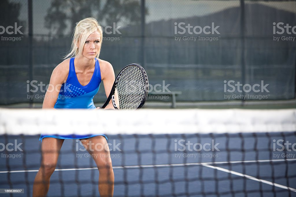 Playing Tennis stock photo
