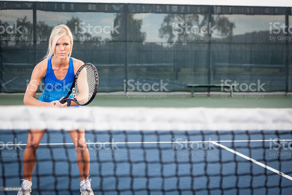 Playing Tennis stock photo