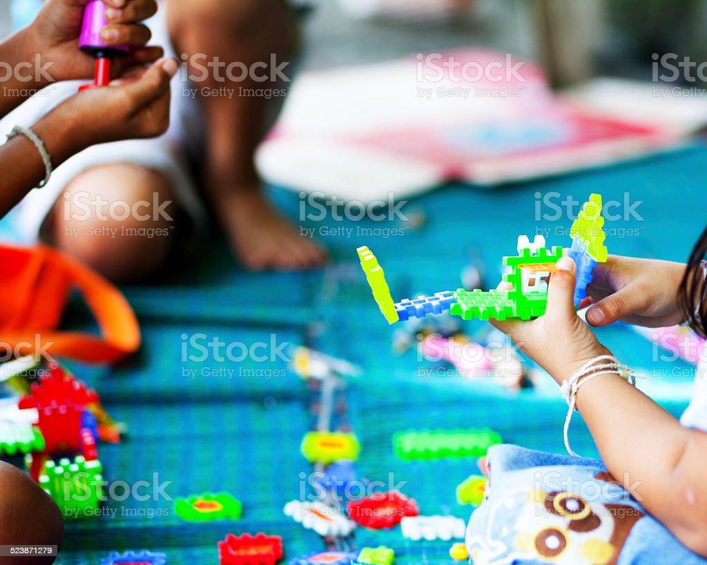 Playing Thai children stock photo