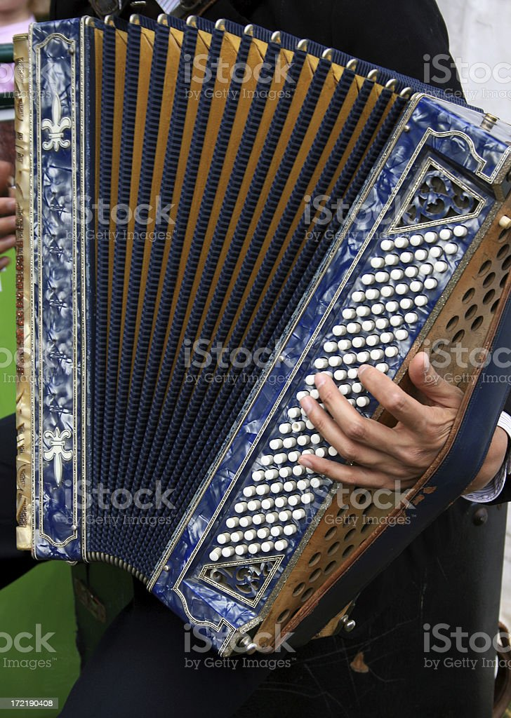 Playing the accordion royalty-free stock photo