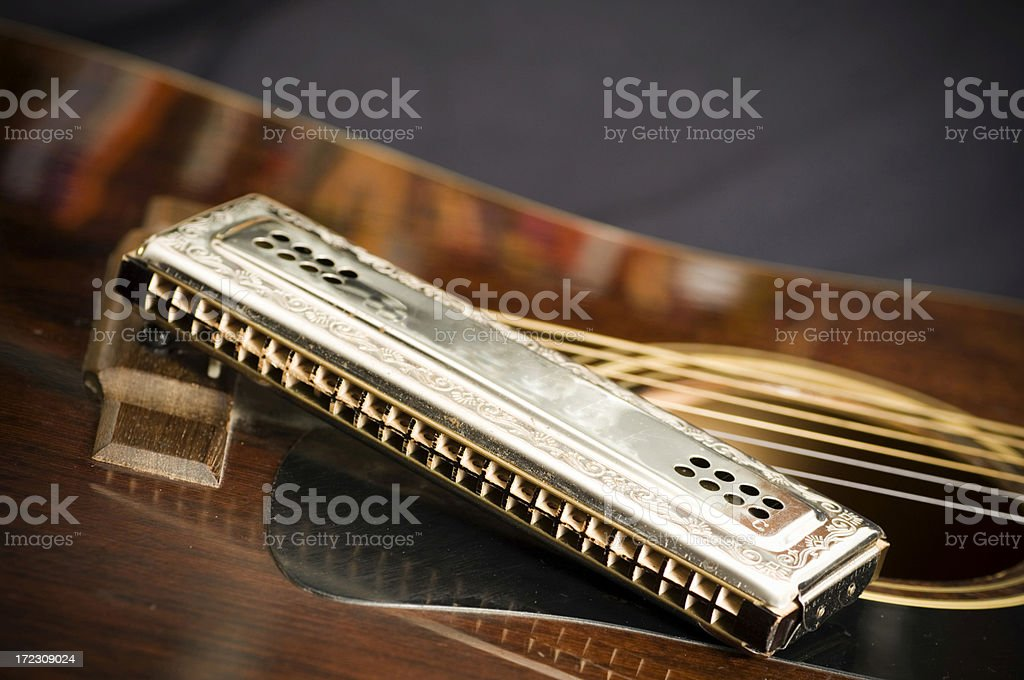 Playing the blues stock photo