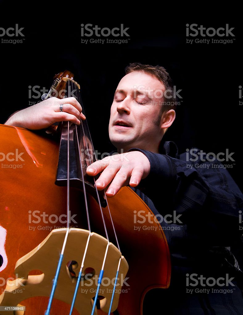 Playing the double bass royalty-free stock photo