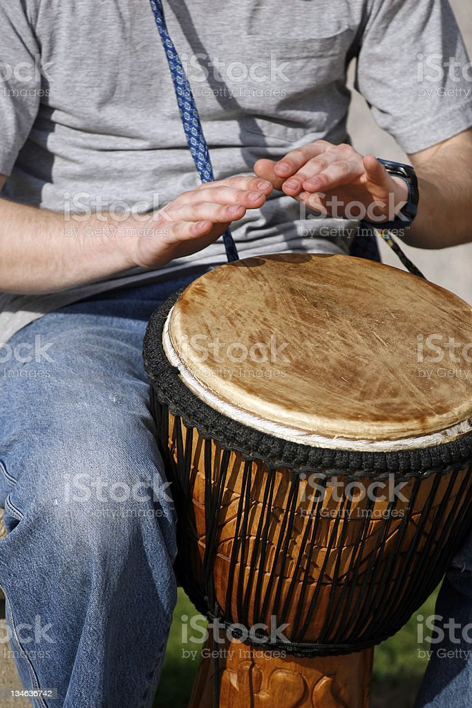 Playing the Drums royalty-free stock photo