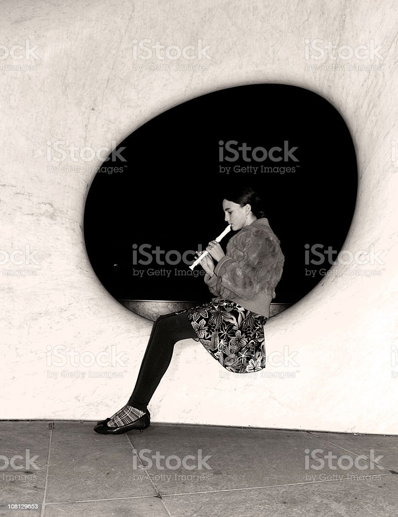 Playing the Flute.... royalty-free stock photo