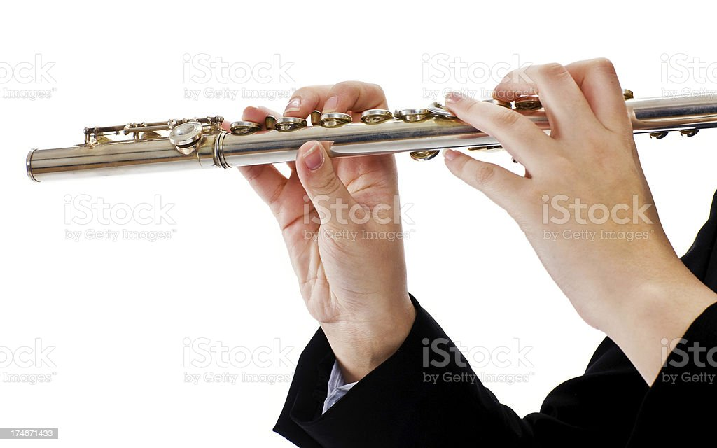 playing the flute royalty-free stock photo