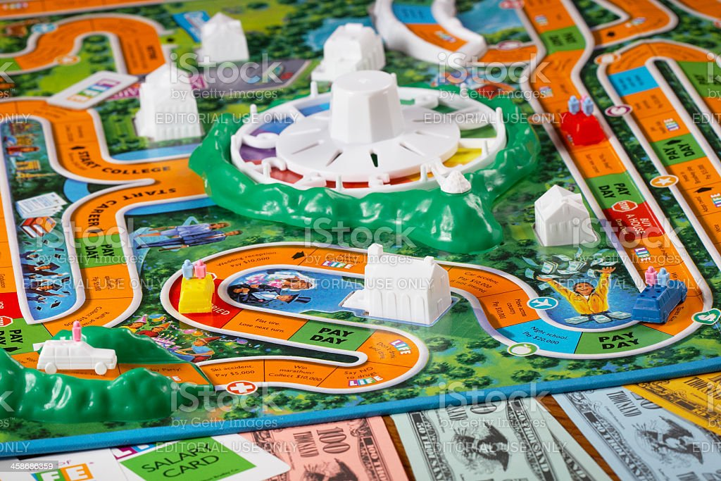 Playing The Game of Life stock photo