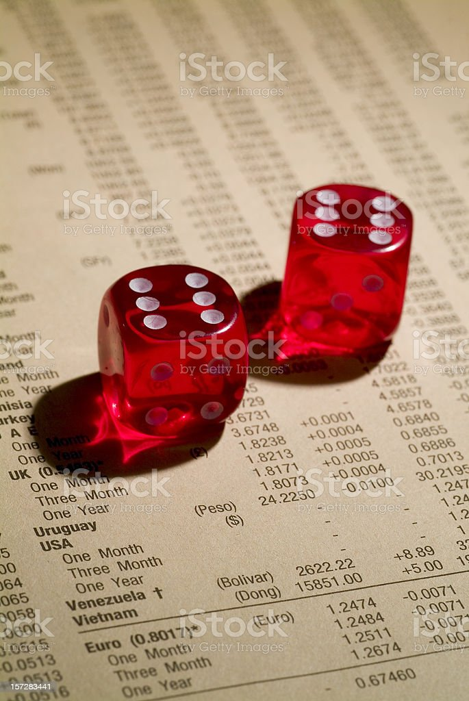 Playing the money game and winning 02 royalty-free stock photo