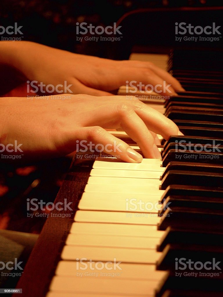 Playing The Notes royalty-free stock photo