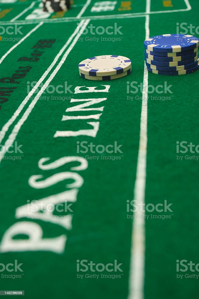 Playing The Pass Line royalty-free stock photo