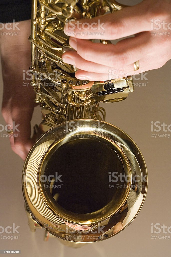 Playing the Sax royalty-free stock photo