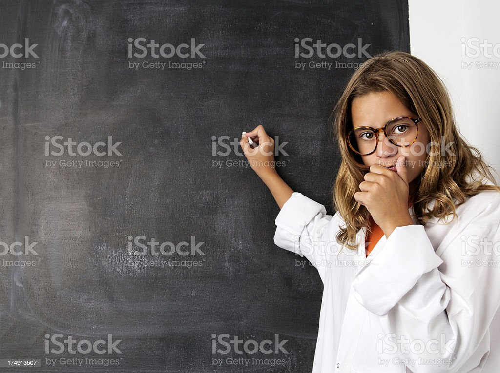 Playing to be a teacher royalty-free stock photo