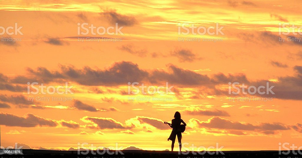 Playing to the Sun royalty-free stock photo