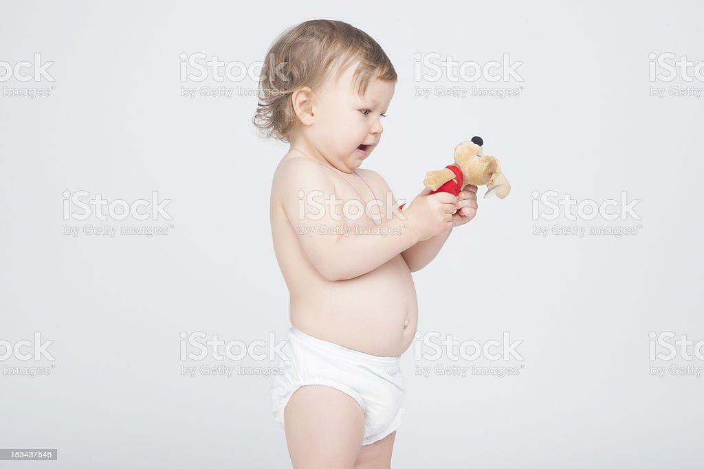 playing toddler stock photo