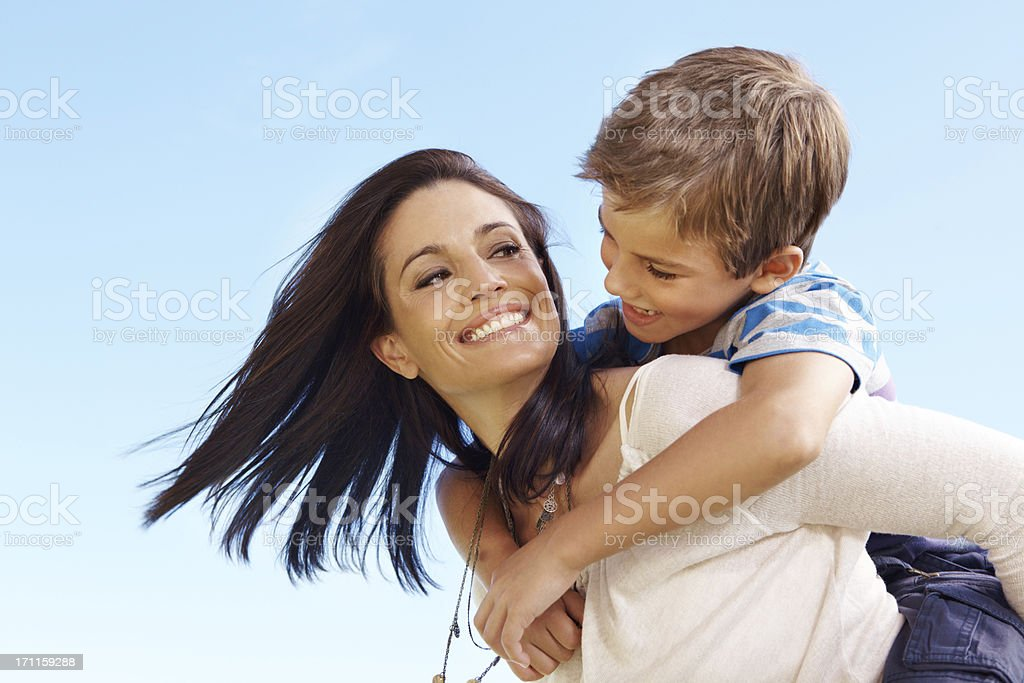 Playing together helps us bond royalty-free stock photo