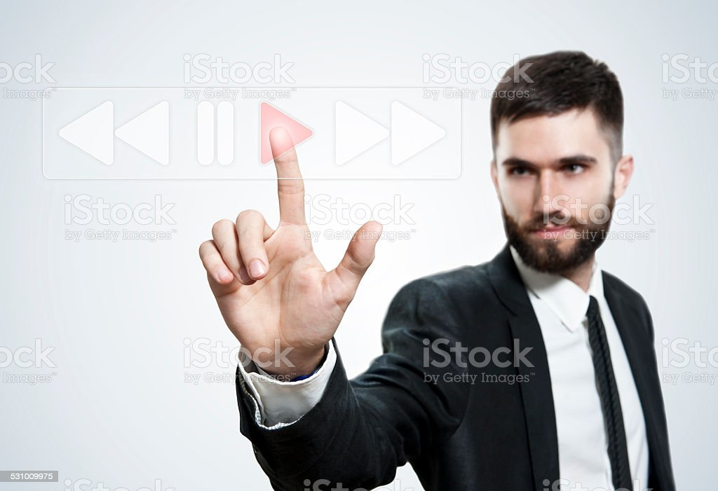 Playing Touch Screen (Click for more) stock photo