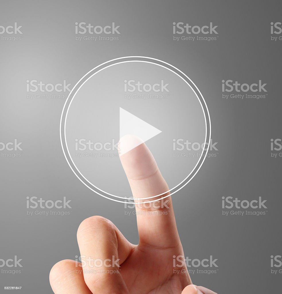 Playing Touch Screen stock photo
