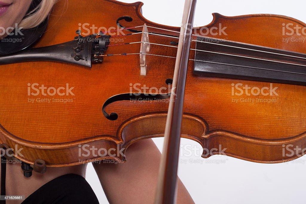 Playing violin royalty-free stock photo