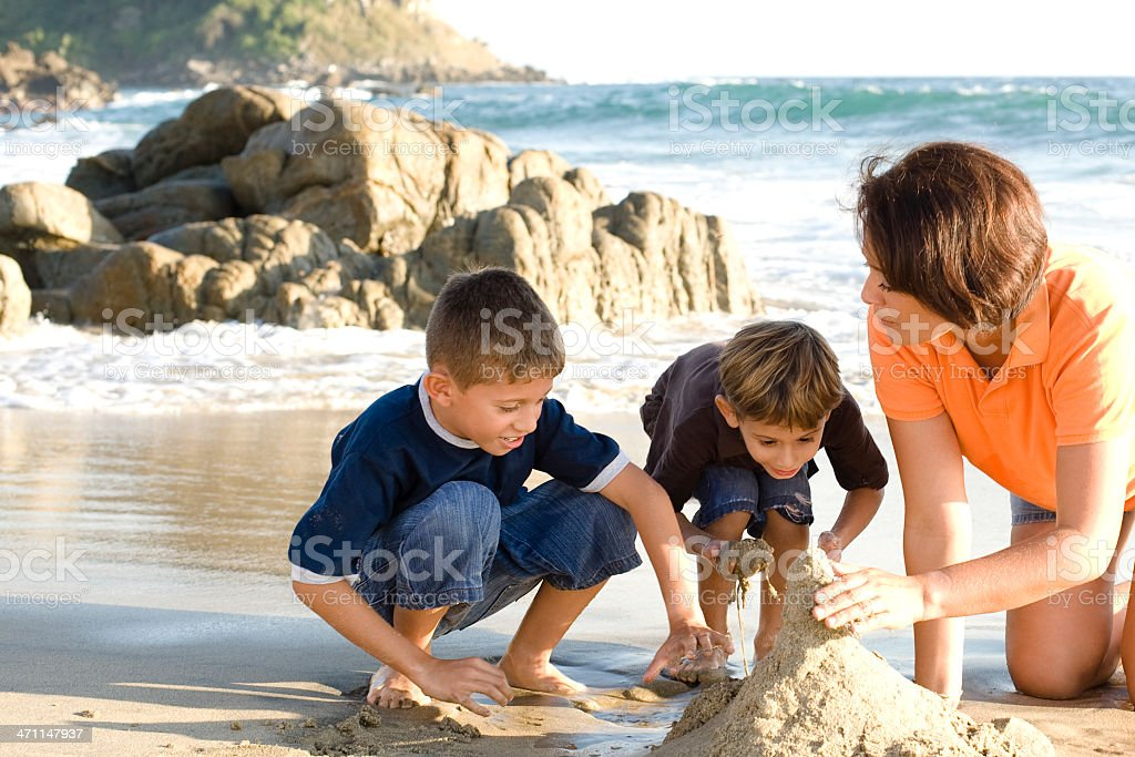Playing whit the sand royalty-free stock photo