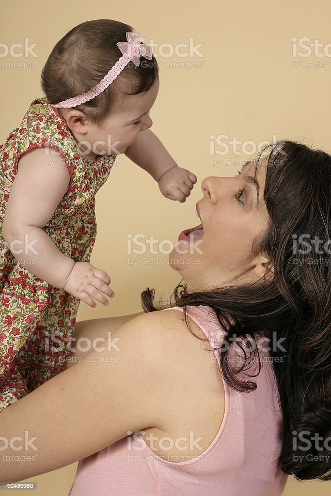 Playing with baby royalty-free stock photo