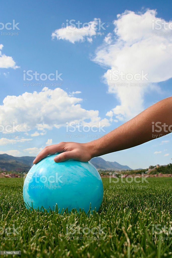 Playing with ball stock photo