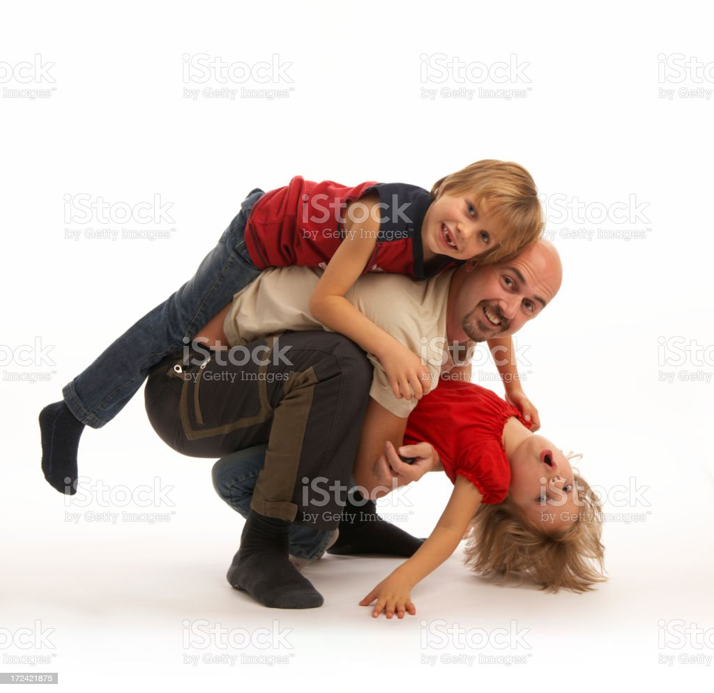 playing with children stock photo