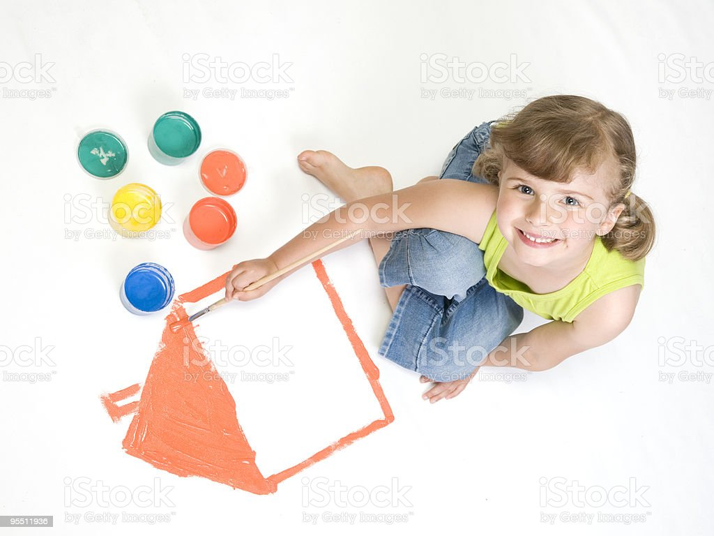 Playing with colors royalty-free stock photo